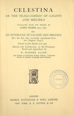 Book Cover: Celestina