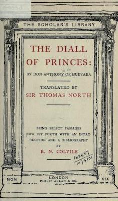 Book Cover: The diall of princes (El libro áureo)