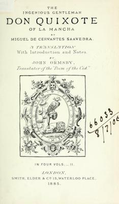 Book Cover: Don Quixote of La Mancha, vol. 2 of 4