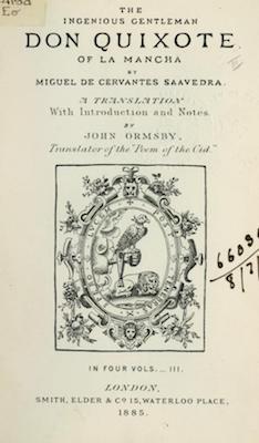 Book Cover: Don Quixote of La Mancha, vol. 3 of 4