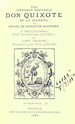 Book Cover: Don Quixote of La Mancha, vol. 4 of 4