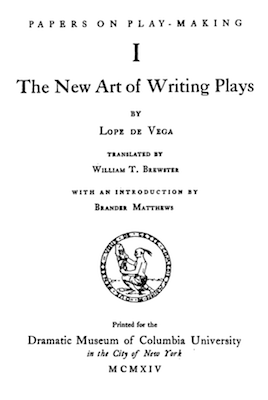 Book Cover: The new art of writing plays