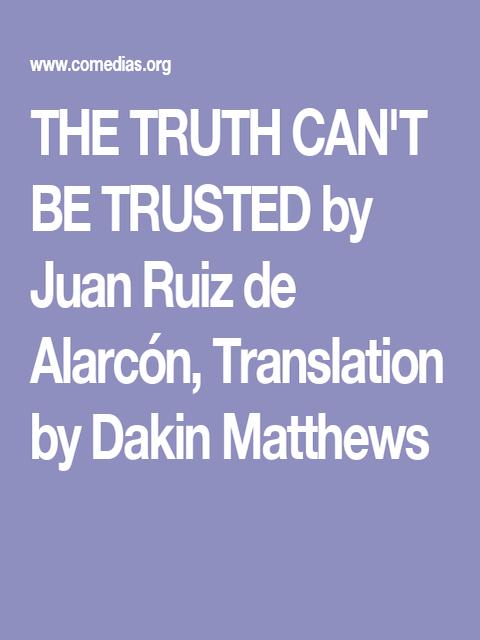 Book Cover: The Truth can't be trusted (La verdad sospechosa)